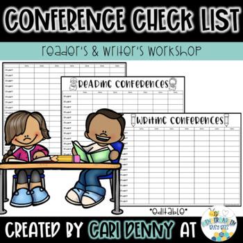 Workshop: Conference Check List