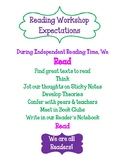 Workshop Expectations Poster Set - Reading, Writing and Ma