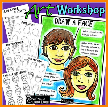 Workshop: How to Draw a face: Art Lesson