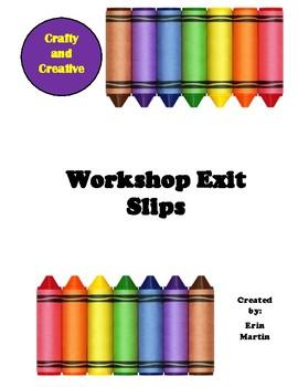 Workshop / Learning Center Exit Slip