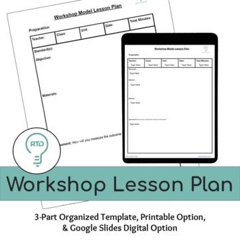 Workshop Lesson Plan Template