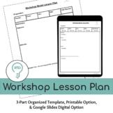 Workshop Lesson Plan   Print and Digital Resource