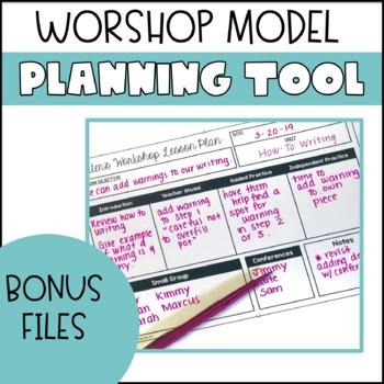 Workshop Model Lesson Plan