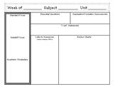 Workshop Model Lesson Plan Template