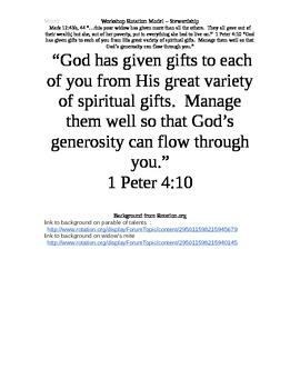 Workshop Rotation Stewardship/Widow's Mite/Thankful Lepers Sunday school lesson