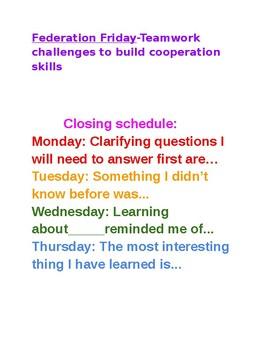 Workshop Schedule ideas
