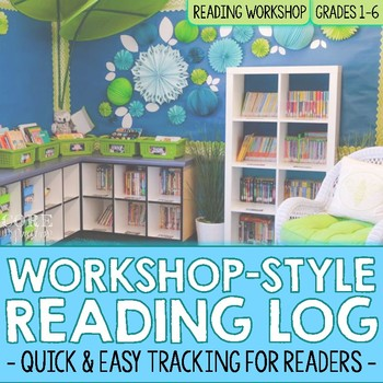 Workshop Style Reading Log - Printable and Google Classroom Versions
