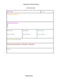 Workshop Unit and Lesson Plan template
