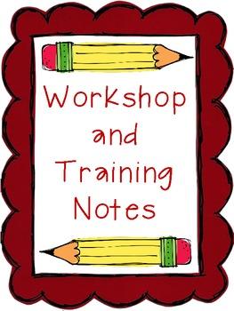 Workshop and Binder Notes- Binder Organizer FREEBIE