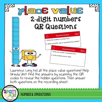 2 Digit Place Value QR Code Questions {Task Cards}