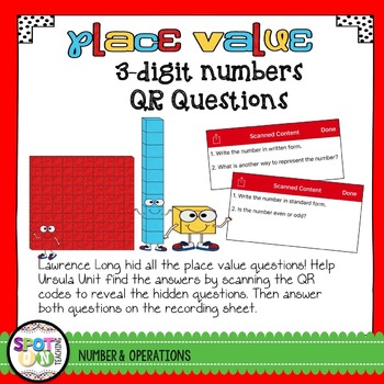 3 Digit Place Value QR Code Questions {Task Cards}