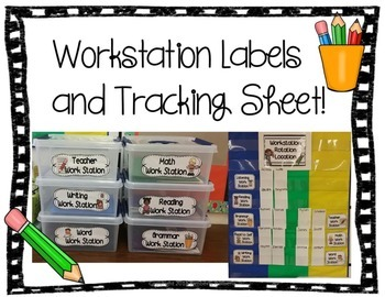 Workstation Labels and Tracking Sheet