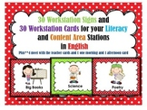 30 Workstation Posters and Cards In English