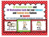 30 Workstation Posters and Cards In Spanish