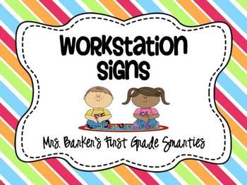 Workstation Signs