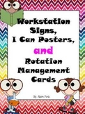 Workstation Signs, I Can Posters, and Rotation Management Cards
