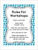 Workstation / Workshop / Center Rules Posters w/ White Frames