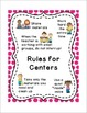 Workstation / Workshop / Center Rules Posters w/ White Frames