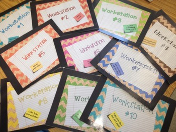 Workstation or Center Signs:  Both  so all can use! Organize your small groups!