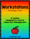 Workstations Cards- Organization for Reading Or Math Stations