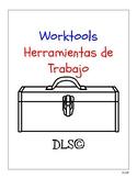 Worktools - Bilingual flashcards - English-Blue, Spanish-Red