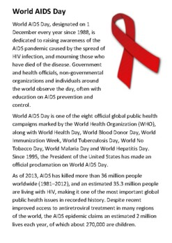World AIDS Day Handout