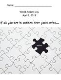 World Autism Day Activity