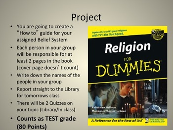 World Belief Systems Introduction and Creative Interactive PROJECT