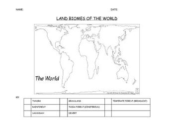 World Biome Map w/See Think Wonder
