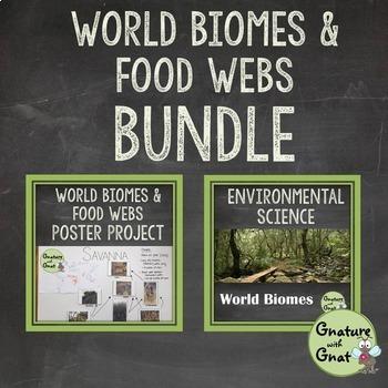 World Biomes Bundle: Habitats & Food Webs
