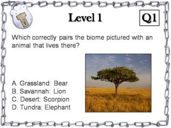 World Biomes Activity: Escape Room - Science (Ecosystems Unit)