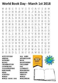 World Book Day Word Search