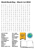 World Book Day 2018 Word Search