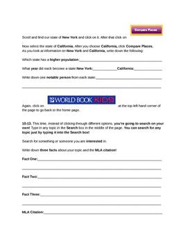 World Book Kids Online Scavenger Hunt