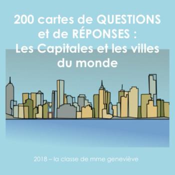 Carte Du Monde Realiste.Les Capitales Et Les Villes Du Monde Trivia Cards Tpt
