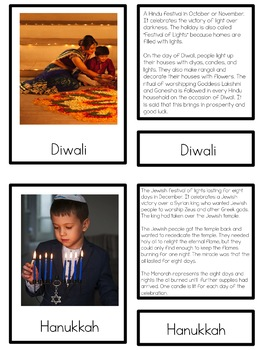 World Celebrations 3 part cards