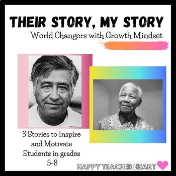 """World Changers Growth Mindset Activity ---""""Their Story, My Story"""""""
