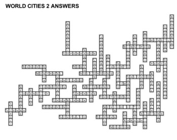 World Cities Crossword Puzzles
