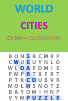 World Cities Word Search Puzzles