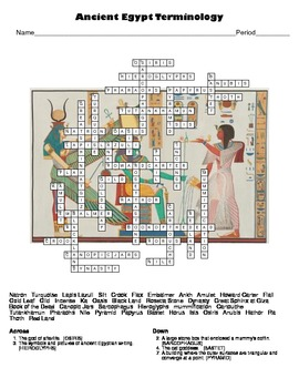 World Civilizations: Ancient Egypt Crossword Puzzle by ...