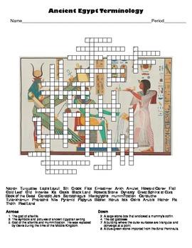 World Civilizations: Ancient Egypt Crossword Puzzle
