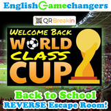 World Class Cup Soccer Back to School REVERSE Escape Room! Break IN to ANY Class