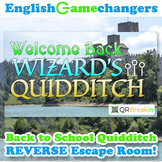 Wizard's Quidditch Back to School REVERSE Escape Room! Break IN to ANY Class!