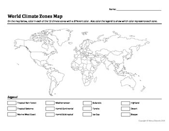 Blank map of world climate zones ora exacta blank map of world climate zones blank world climate map to color blank fill in the biome worksheet latitude and climate map world climate zones map gumiabroncs Images