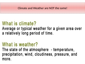 World Climate - weather basics, climate regions / graphs and hurricanes