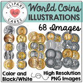 World Coins Clipart by Clipart That Cares