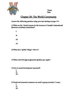 World Community Worksheet
