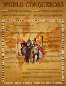 World Conquerors Activity