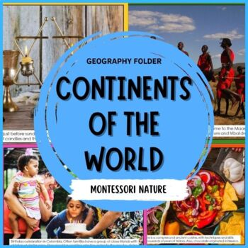 WORLD CONTINENT CARDS AND 3 PART CONTINENT MONTESSORI CARDS