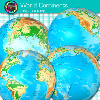 continent in all 4 hemispheres